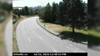 Saanich > East: , Hwy  southbound (Blanshard St) at - Rd, looking east - El día