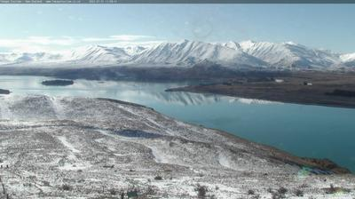 Daylight webcam view from Lake Tekapo