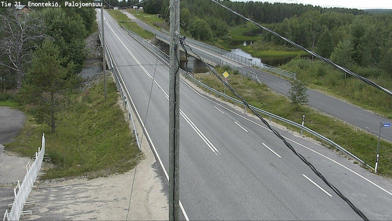 Webcam Enontekiö: Tie 21 Palojoensuu − Kilpisjärvelle