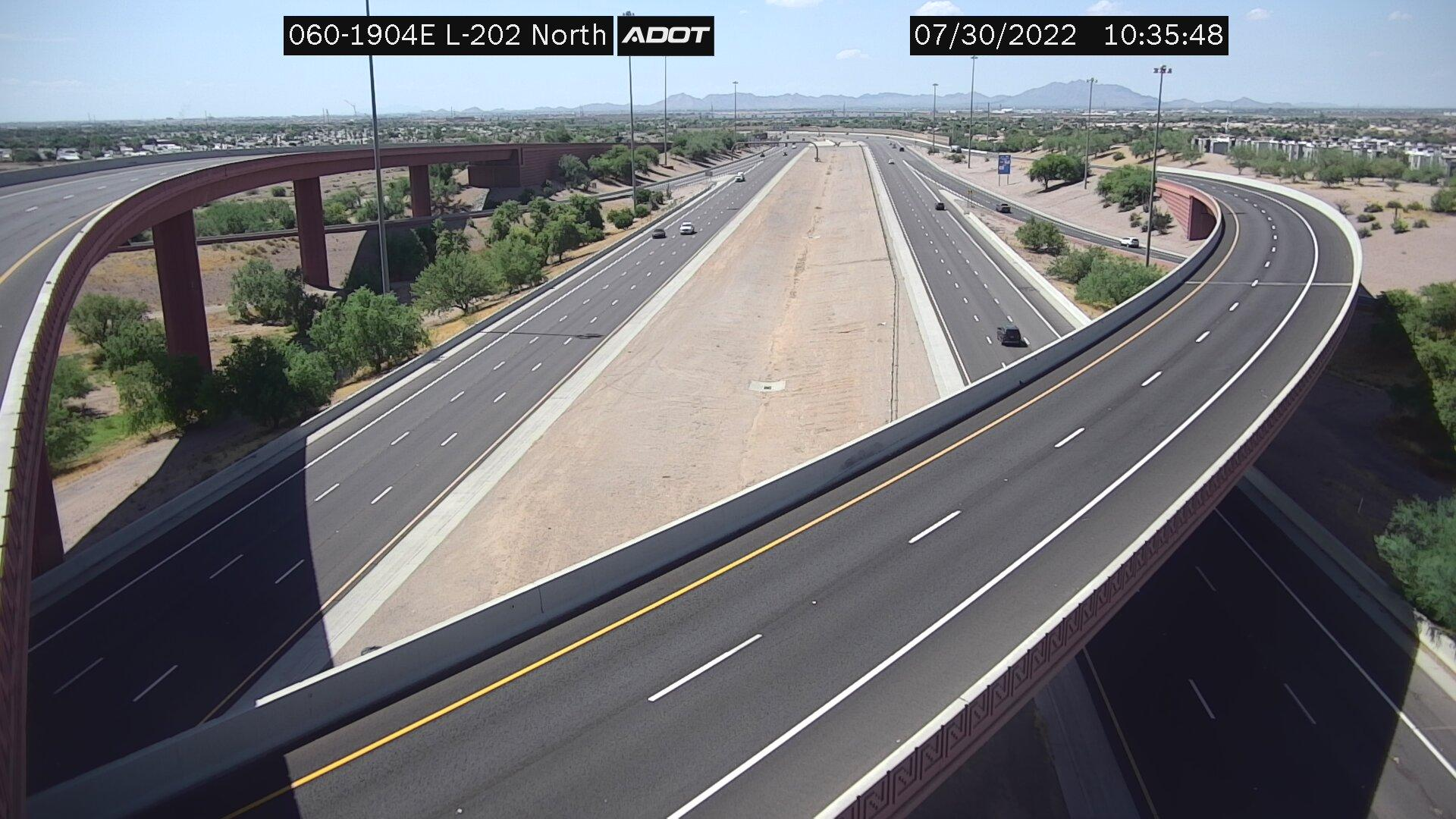 Webcam Fountain of the Sun: US 60 Loop 202 N