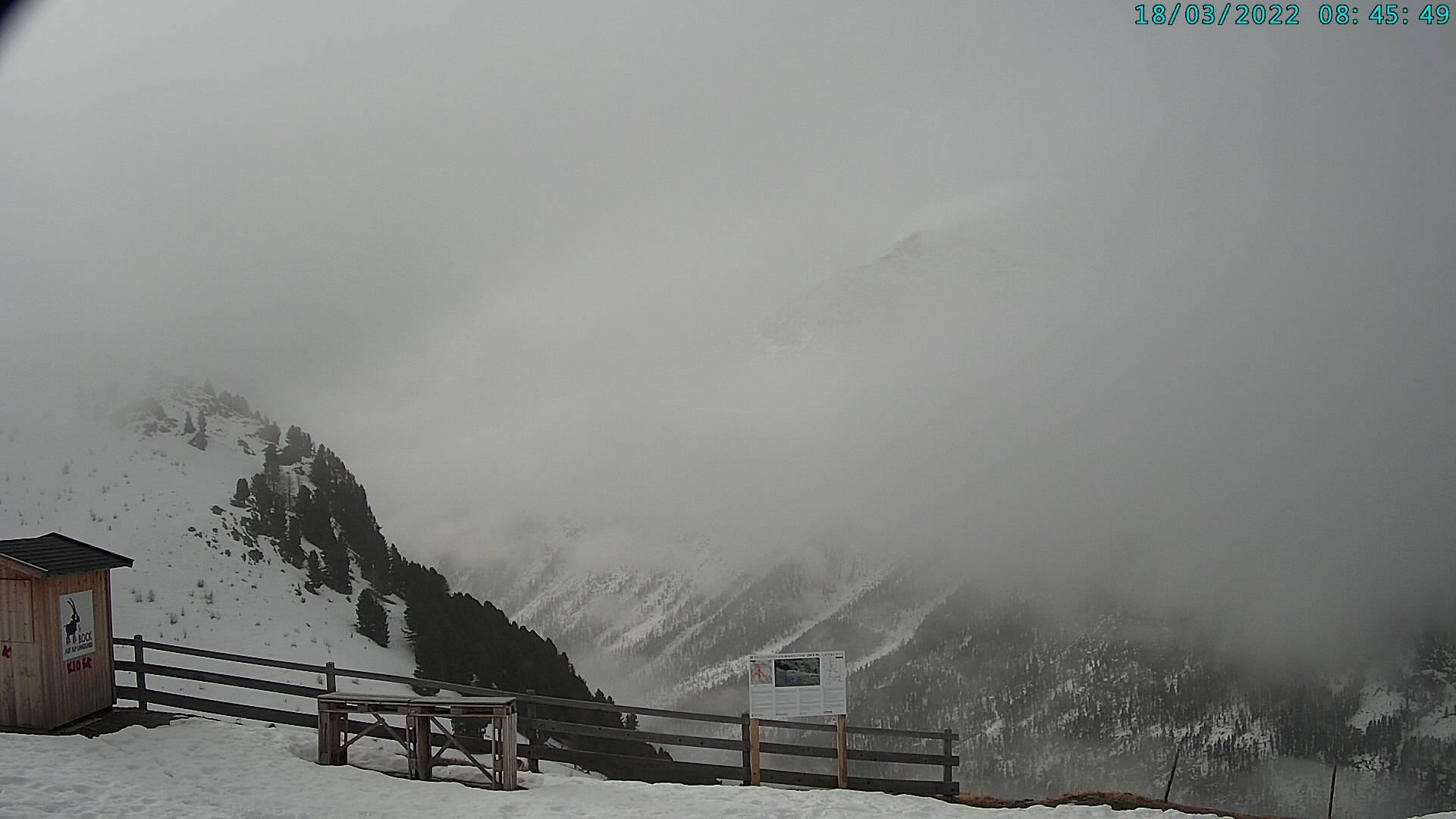 Webcam Pontresina: Engadin St. Moritz − Ausblick Restaura
