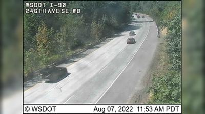 Current or last view from Issaquah: 246th Ave SE, WB