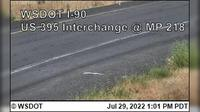 Ritzville > West: I- at MP : US  Interchange - Day time