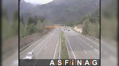 Vista actual o última desde Torren: A10, bei Anschlussstelle Golling Abtenau, Blickrichtung Villach − Km 27,26