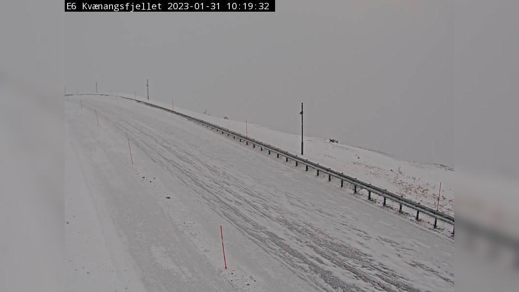Webcam Skorpa: E6 Kvænangsfjellet (391 moh)