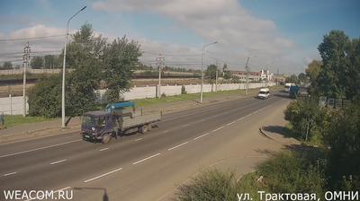 Иркутск - Иркутская область, Россия: Вид на Академический мост, ул. Старокузьмихинская, Иркутск